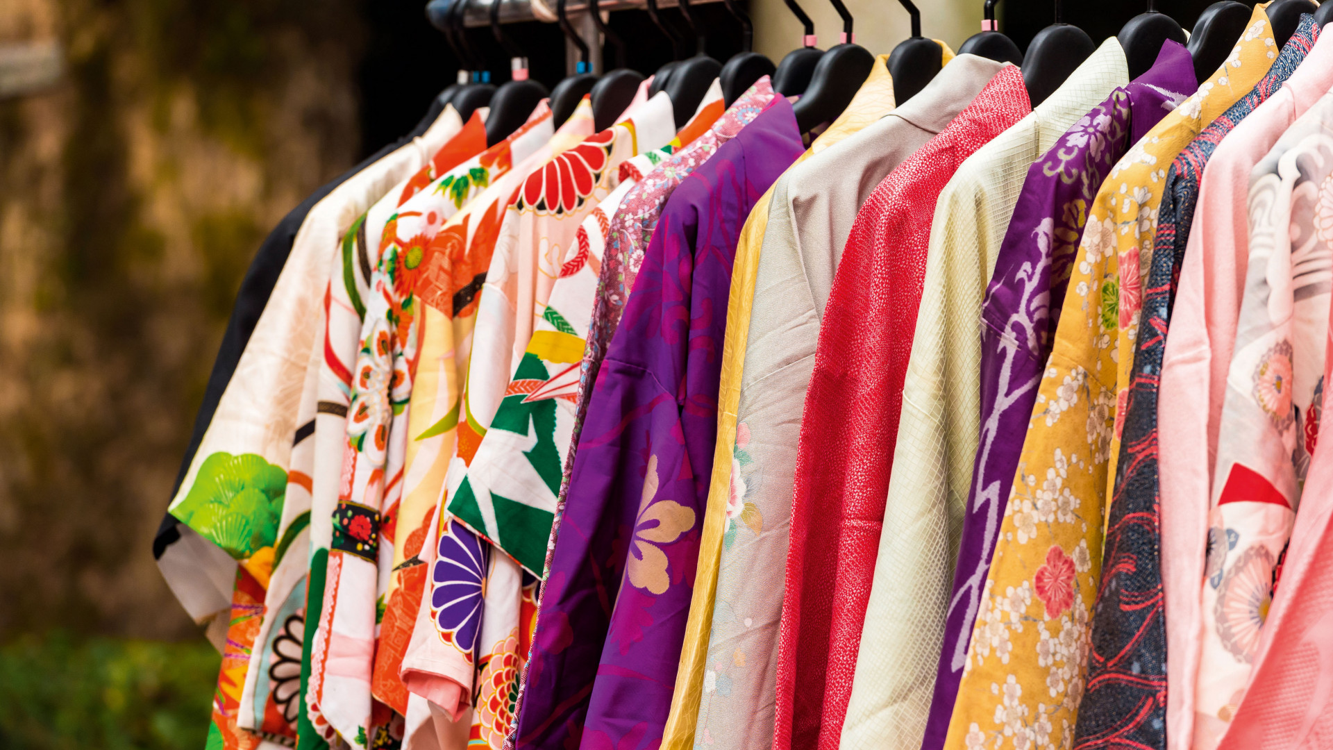 Colourful Japanese kimonos