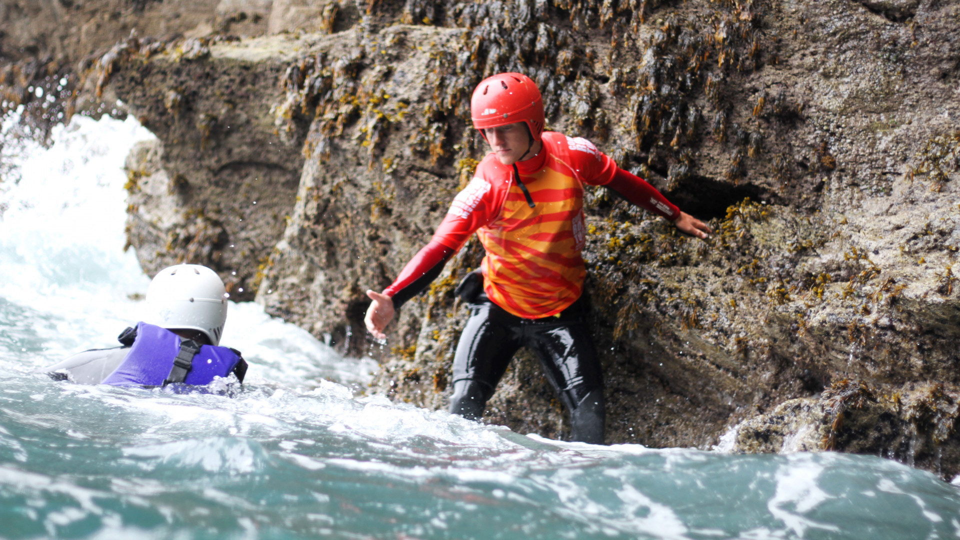 Coasteering in Cornwall