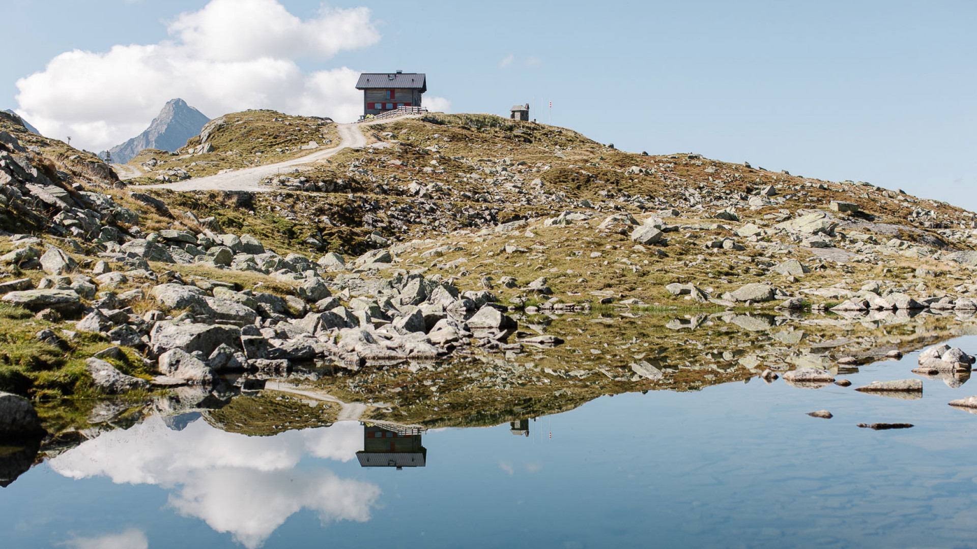 A mountain hut in the Zillertal Valley