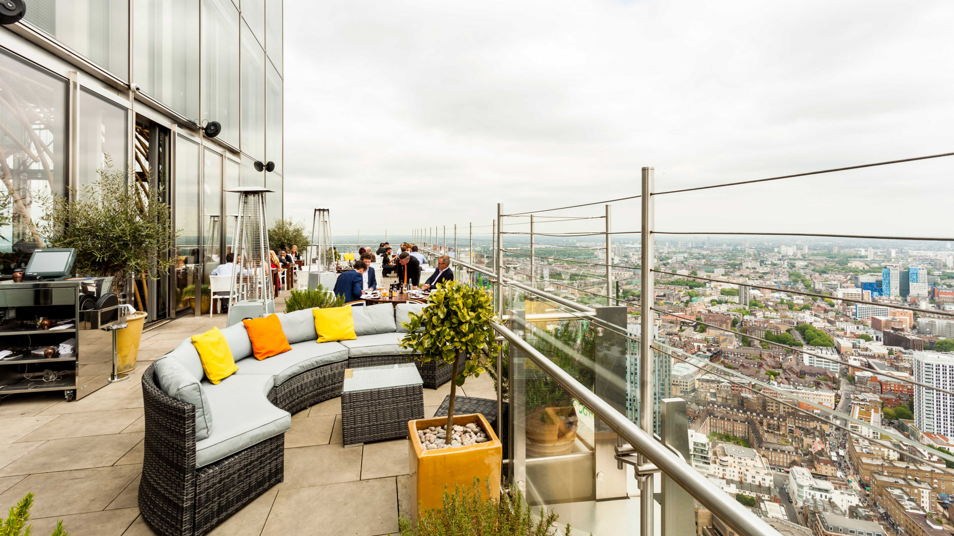 View from terrace at Sushisamba in London