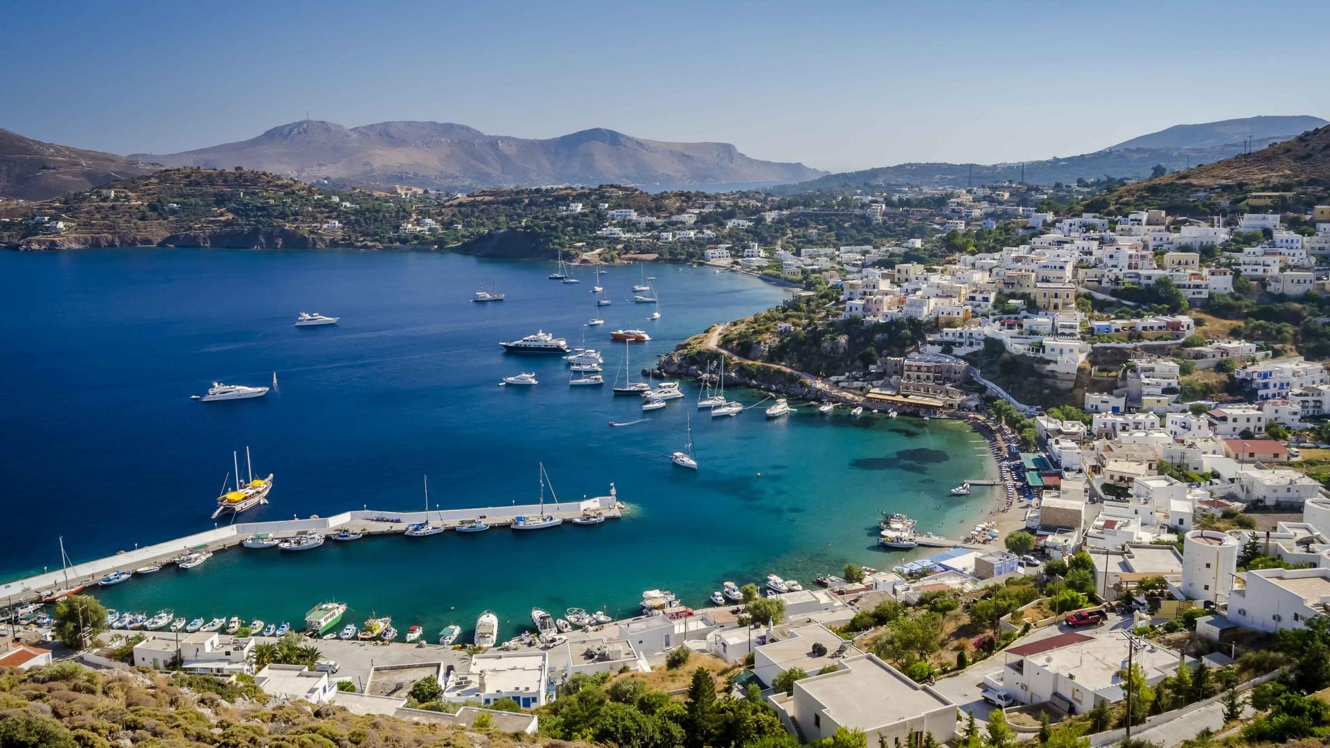 The isle of Leros in Greece