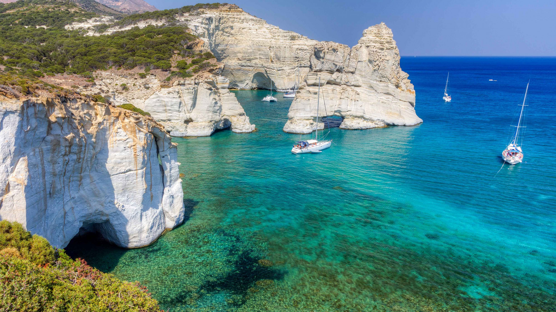 The isle of Milos in Greece