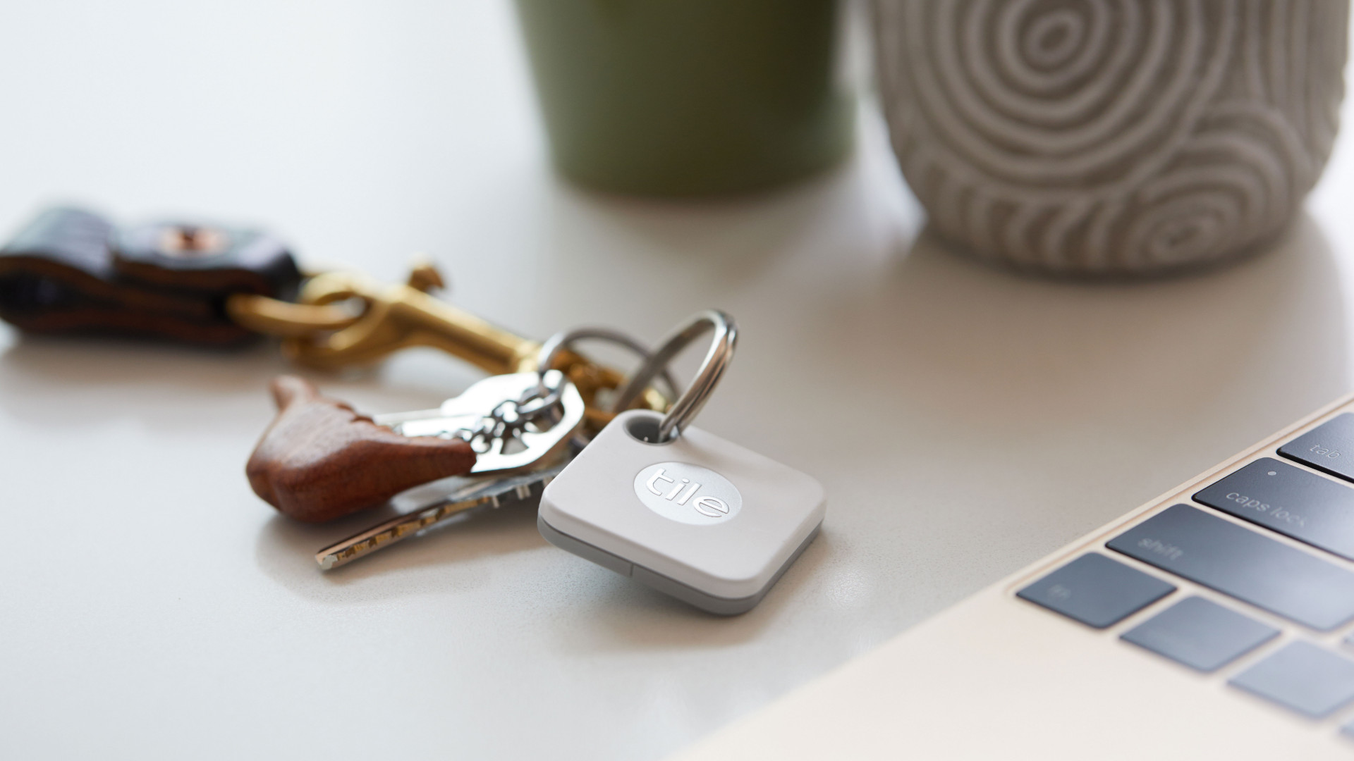 Tile Bluetooth tracker: on keys