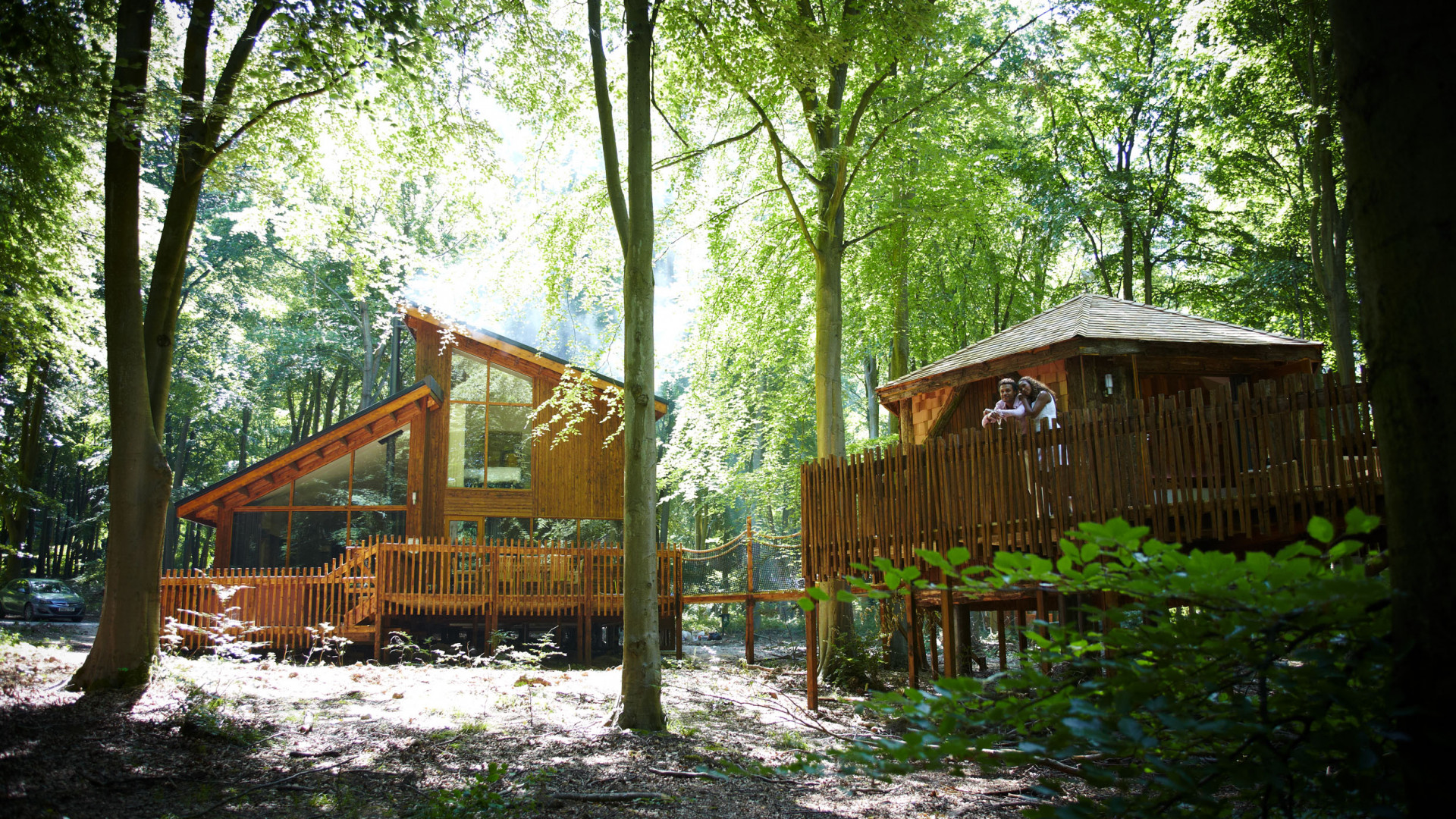 Wood cabins at Forest Holidays