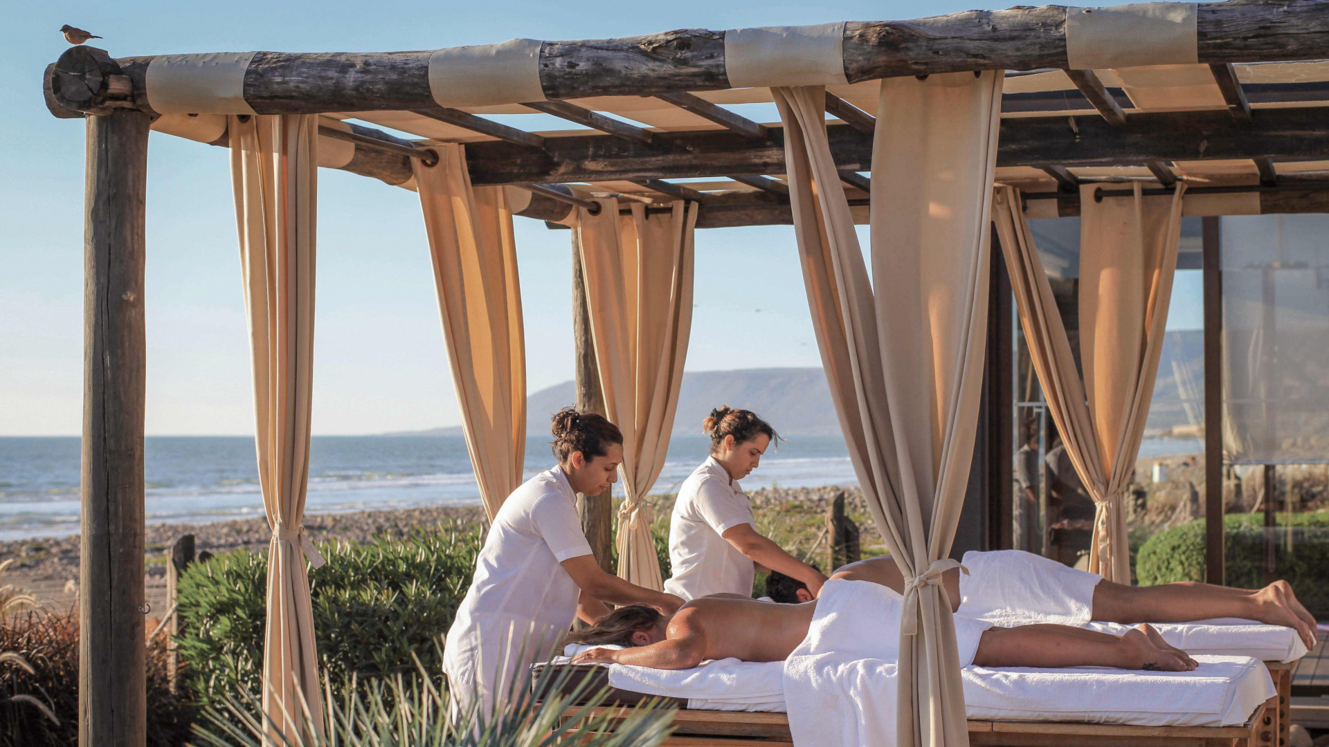 Outdoor spa at Paradis Plage, Agadir, Morocco