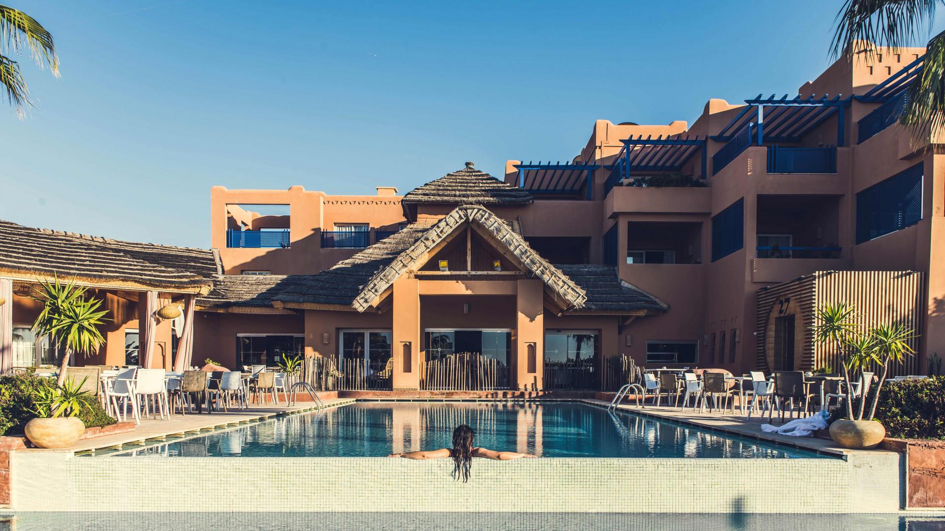 Infinity Pool at Paradis Plage, Agadir, Morocco