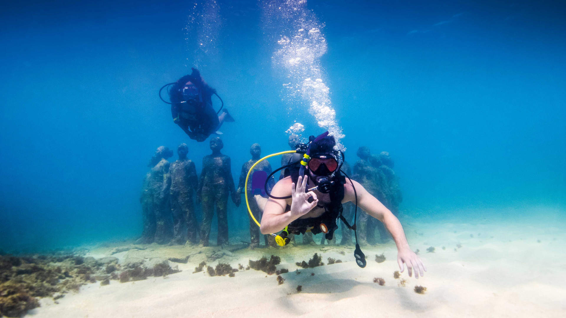 Grenada food and drink: diving at Molinere Underwater Sculpture Park
