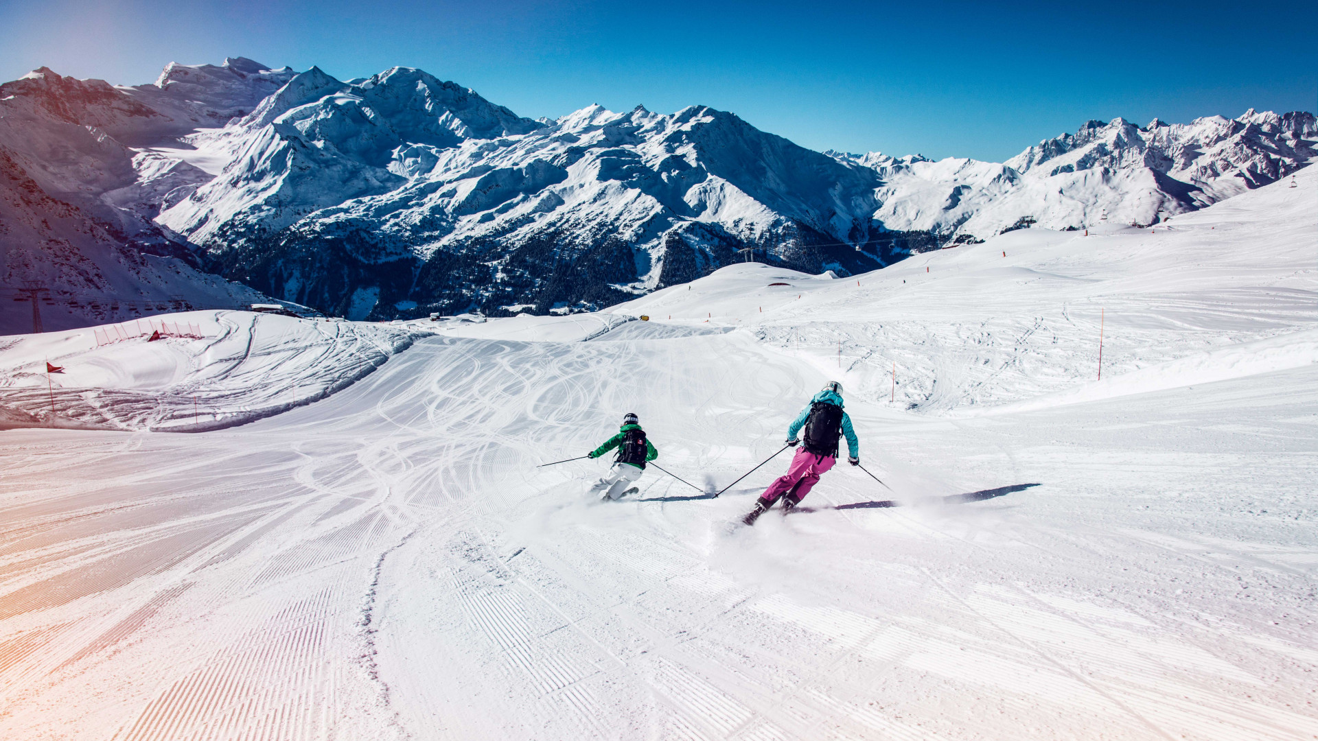 Winter in Valais: skiing in Verbier