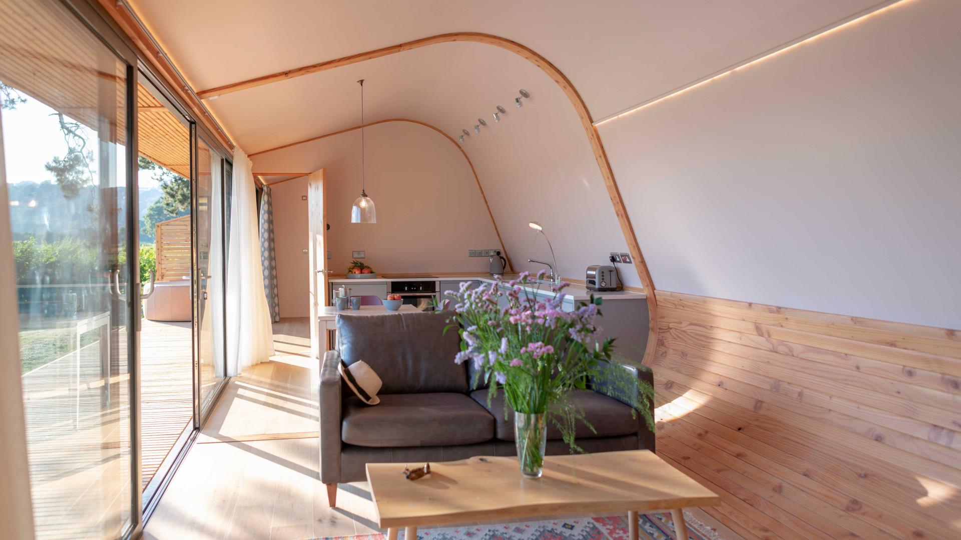 Cynefin Retreats | Inside the eco pod