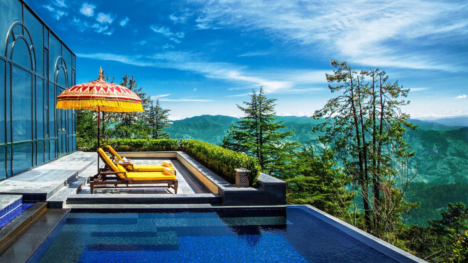 World's Most Awesome Swimming Pools: Oberoi Wildflower Hotel Shimla Himalayas