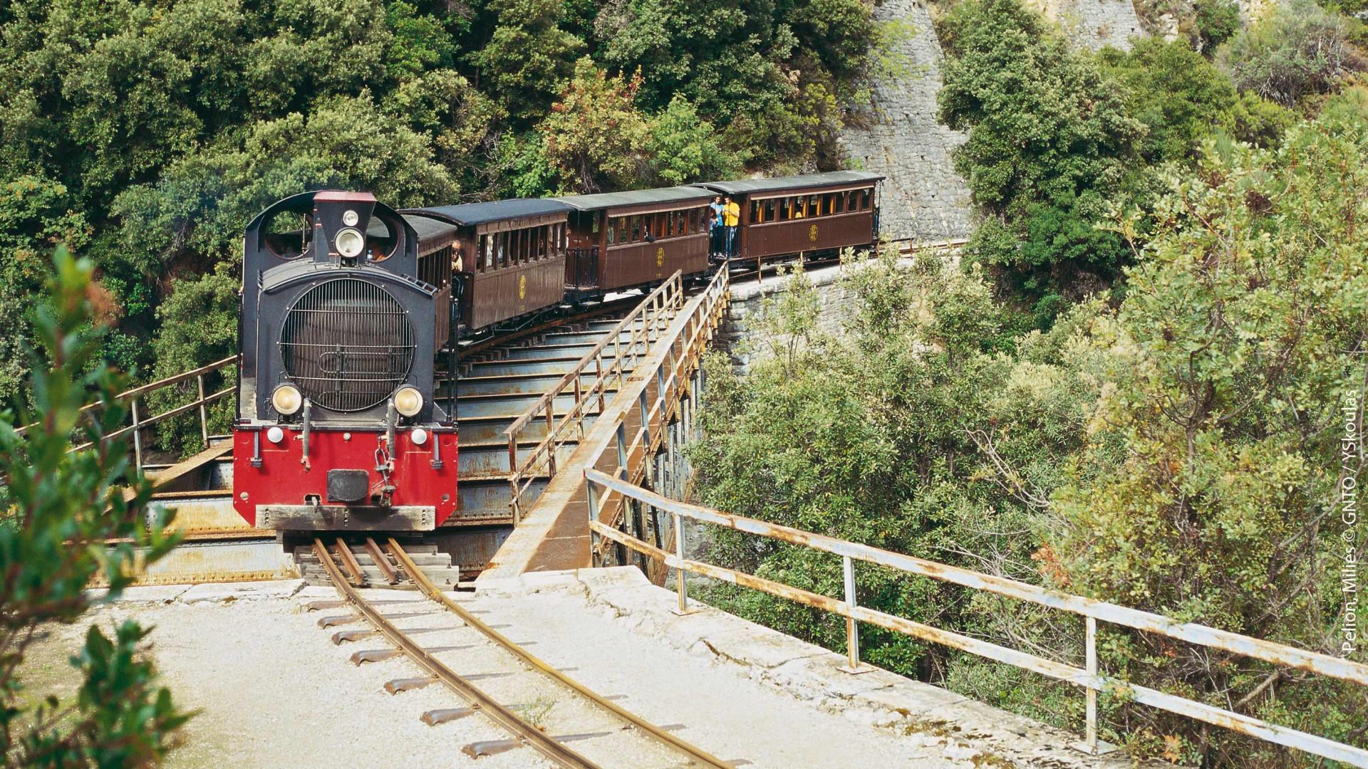The Pelion steam train, Greece