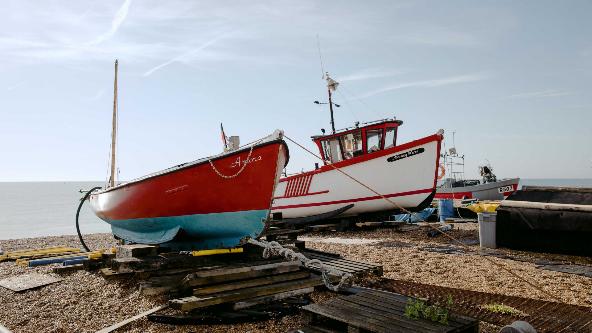 The Rose Deal: fishing boats on the beach