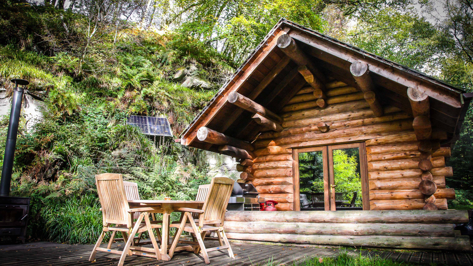 Best self-catering in the UK: Wood Cabin, Lake District in the sunshine