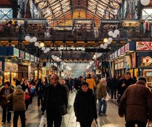 Market hall bazaar in Budapest, Hungary