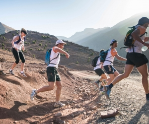 Trail running in the Atlas Mountains, Morocco