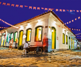 Photograph of Paraty's historical buildings