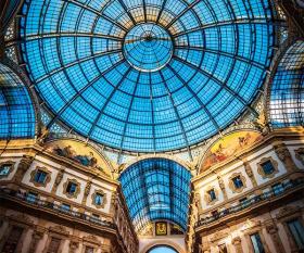 Glass dome at Milan's Galleria Vittoria Emmanuele
