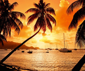 Incredible Caribbean sunset