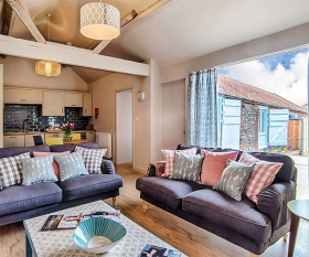 Living area at Barsham Barns, North Norfolk
