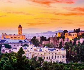 Malaga skyline