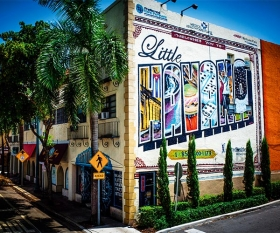 Little Havana mural in Miami, Florida