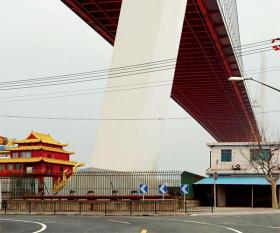 Shanghai flyover from Gisela Erlacher's 'Skies of Concrete'
