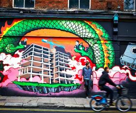 Graffiti Dublin Quays (Visit Ireland)