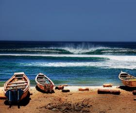 Boats on the coast Senegal