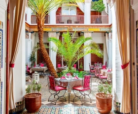 Riad interior, the Medina, Marrakech, Morocco