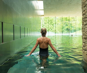 Indoor pool at Cowley Manor, near Cheltenham, Gloucestershire