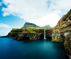 The Faroe Islands' Mulafossur waterfal