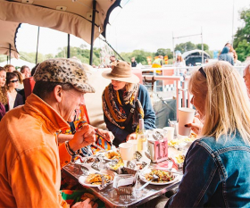 The Le Bun diner at Standon Calling. Photograph by Jamie Stockwood