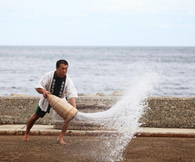 A fisherman in Oku-Noto, Japan