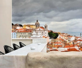 City views from the Memmo Alfama Hotel in Lisbon