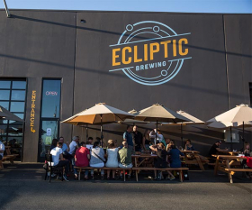 A craft brewery in Portland. Photograph by Jamies Francis and Travel Portland