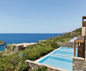 Infinity Pool at Daios Cove Luxury Resort in Crete, Greece