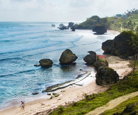 A view of Barbados' stunning beaches