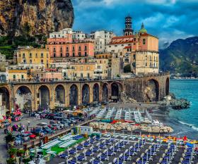 Atrani on the Amalfi Coast, Italy credit: Derrick Brutel
