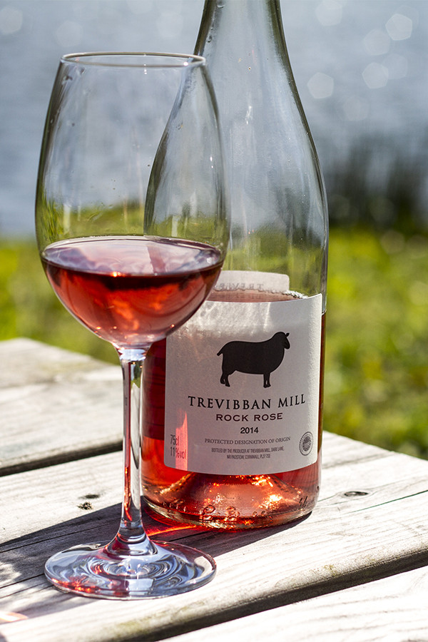 Rosé at Trevibban Mill winery in Cornwall