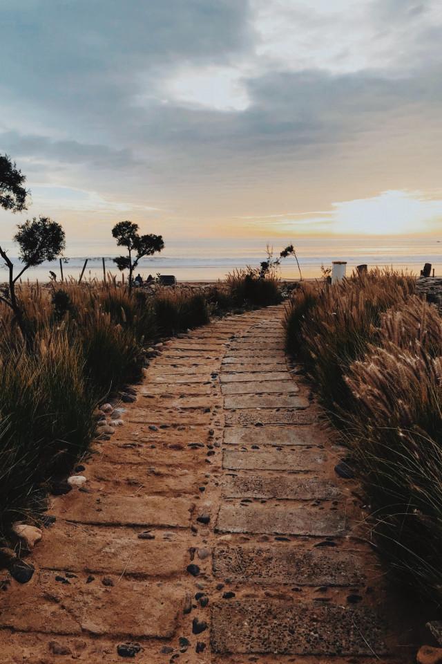 The path to the beach at Paradis Plage, Agadir, Morocco