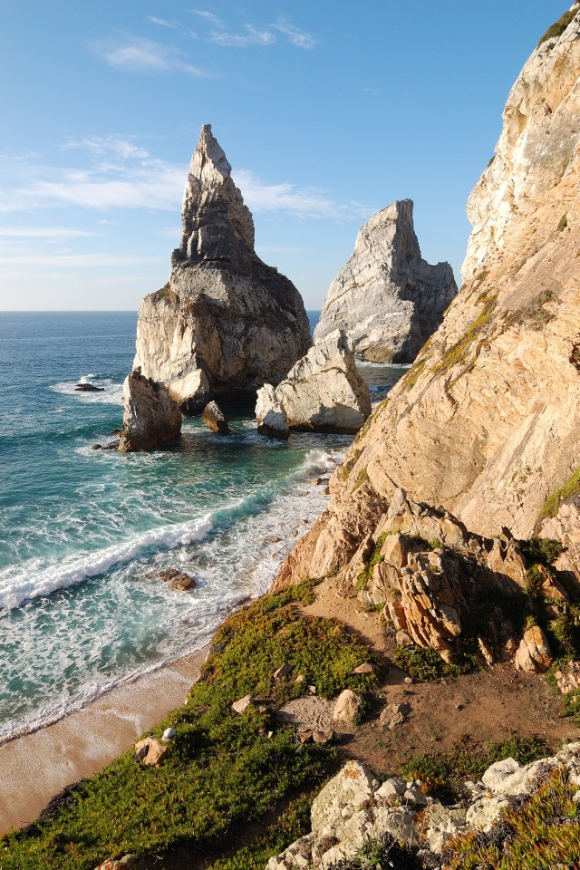 The rocks at Praia da Ursa, Portugal