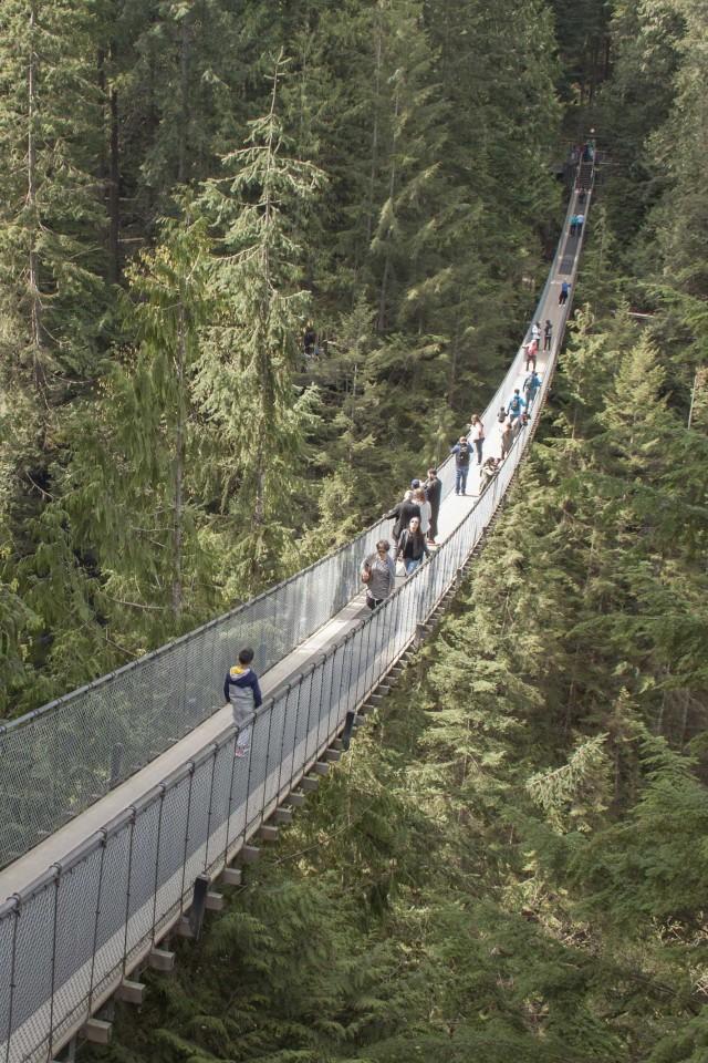 Best city breaks: Capilano suspension bridge in Vancouver, Canada