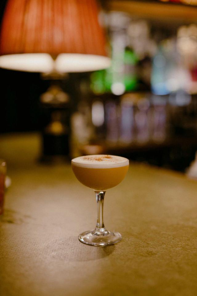 The Rose Deal: pumpkin sour cocktail