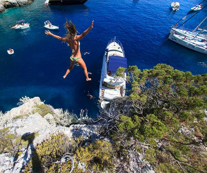 Cliff diving, Croatia