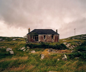 An abandoned croft rusting in the Outer Hebrides