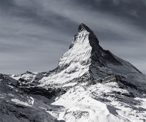 The towering Matterhorn in Switzerland