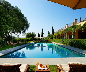 The pool at Castello del Nero Hotel & Spa