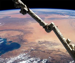 Satellite over Tunisia