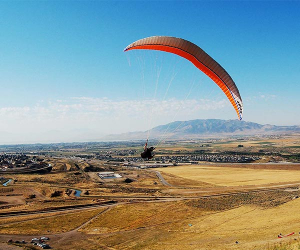 Paragliding in Utah one of Utah's State Parks