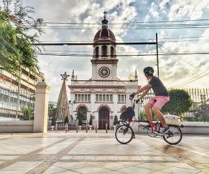 A Brompton rider in Bangkok, Thailand